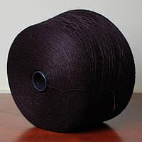 Пряжа-полушерсть, чёрный (бобина 400 г)