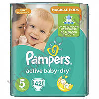 Подгузники Pampers Active Baby-Dry 5 (11-18кг) 42шт