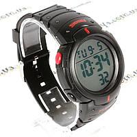 SKMEI 1068 - Водонепроницаемые спортивные часы (черно-красные), фото 1