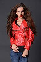 Кожаная женская куртка разные цвета