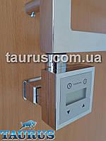 Квадратный электроТЭН с экраном и маскировкой для электрокабеля +регулятор +таймер суточный, хром. Польша