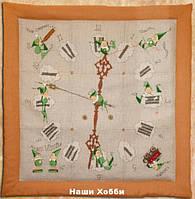 """Набор для вышивания крестом 101 KA(Aida) """"Мик & Мак - Настенные часы"""" (Mic & Mac - L`Horloge) NIMUЁ"""
