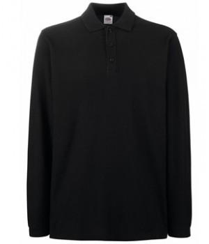 Чоловіча сорочка поло з довгим рукавом, чорна 310-36
