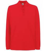 Мужская рубашка поло с длинным рукавом красная 310-40