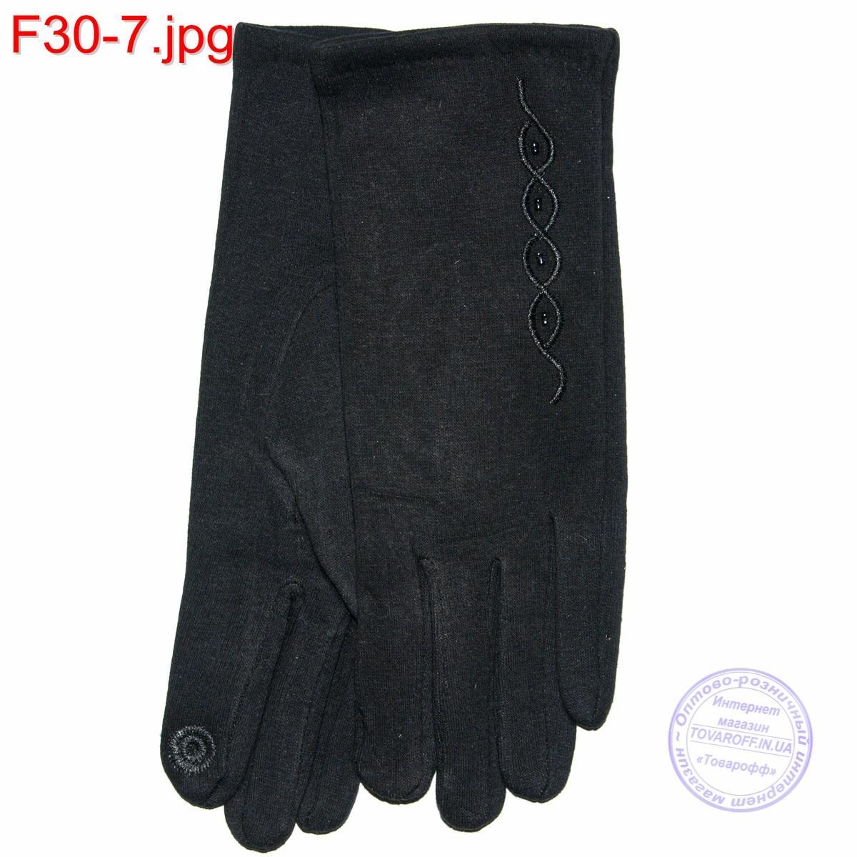 Оптом женские трикотажные стрейчевые перчатки для сенсорных телефонов - F30-7