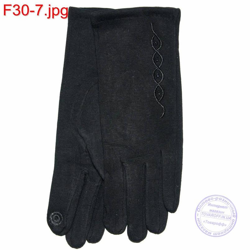 Оптом женские трикотажные стрейчевые перчатки для сенсорных телефонов - F30-7, фото 2
