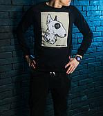 "Мужской свитшот победов Pobedov sweatshirts ""Сasual Animals"" Bullterrier"