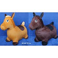 Прыгун лошадь (лошадка)в меховом чехледетская игрушка надувная от 1 годаT-RJ-0012