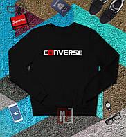 Свитшот мужской черный Конверс Converse black