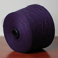 Пряжа-полушерсть, фиолетово-синий (бобина 400 г)