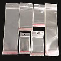 Упаковочные пакеты 14,5*12,5 см еврослот с клейкой лентой 100 шт/уп