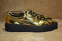 Puma Basket Platform Metallic Gold 362339 04 кроссовки женские. Румыния. 39 р.