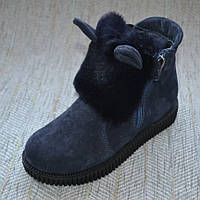 Зимние ушастые ботинки Foletti замша размер 31-36