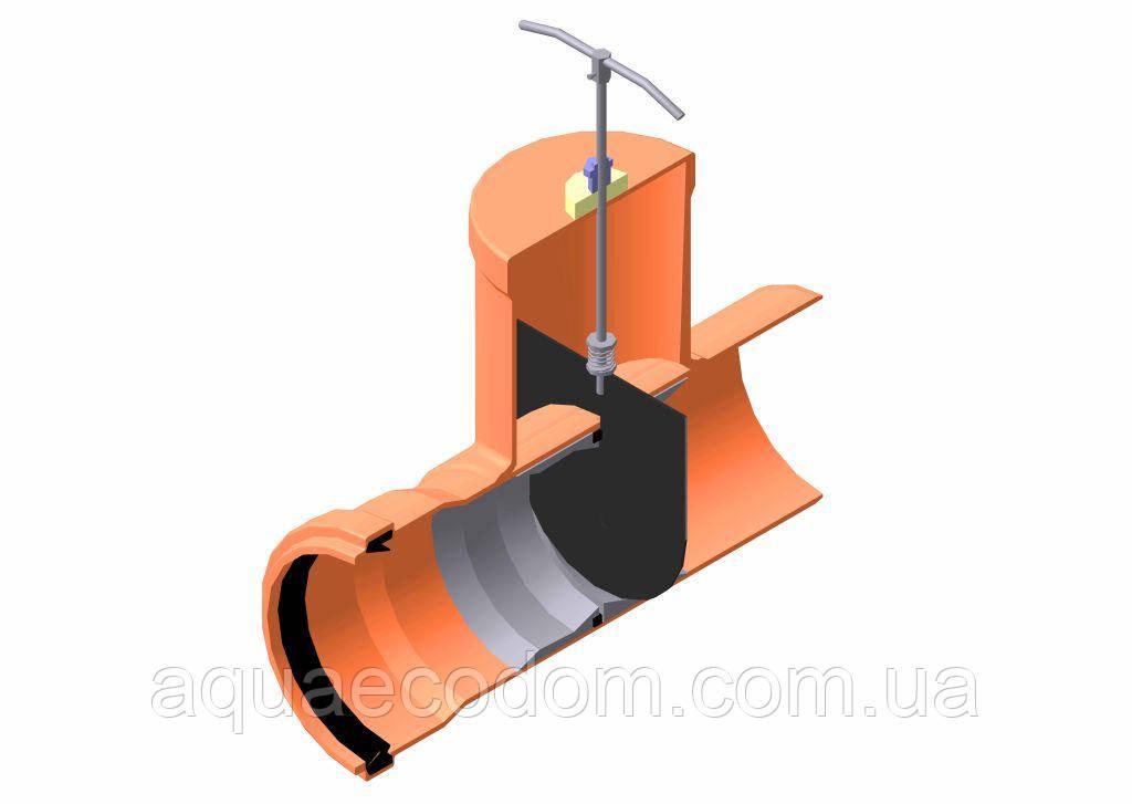 Шиберная задвижка д 110мм (канализационная)