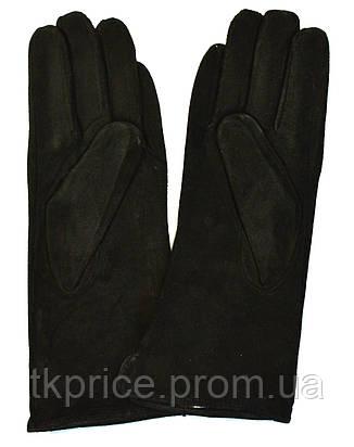 Женские замшевые перчатки на шерстяной подкладке, фото 2