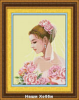 "Набор для рисования камнями (холст) 018L ""Невеста"" LasKo"