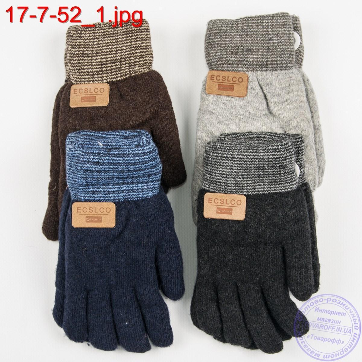 Подростковые двойные перчатки для мальчиков 7, 8, 9, 10 лет - №17-7-52