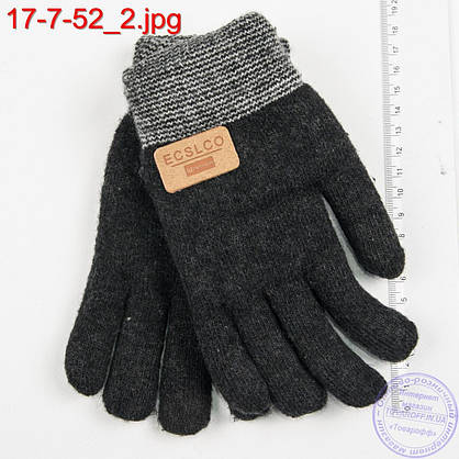Подростковые двойные перчатки для мальчиков 7, 8, 9, 10 лет - №17-7-52, фото 2
