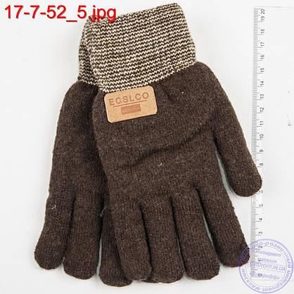 Подростковые двойные перчатки для мальчиков 7, 8, 9, 10 лет - №17-7-52, фото 3