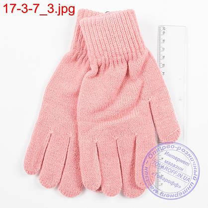 Трикотажные женские перчатки - №17-3-7, фото 3