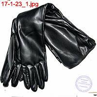 Женские удлиненные перчатки до локтя из эко кожи - №17-1-23