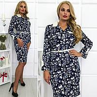 """Элегантное женское платье в больших размерах 083 """"Рубаха"""" в расцветках"""