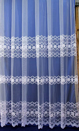 Тюль фатиновая с нежной вышивкой №303 оптом, фото 2