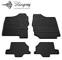 Резиновые коврики Stingray Стингрей SUZUKI Jimny JB 1998- Комплект из 4-х ковриков Черный в салон