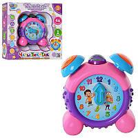 Игра обучающие часы Тик-так M 2201 R I, развивающая игра для детей