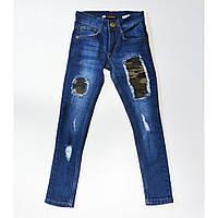Подростковые джинсы для мальчика 10-13 лет р. 140-164 ТМ Marions 083.02
