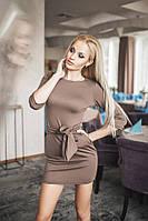 Платье женское кофейного цвета