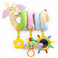 Подвеска растяжка спираль  Жираф  Зоо Масiк MK 5202-01 для малышей на коляску кроватку