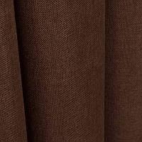 Ткань для штор Однотонная мешковина Шоколадный