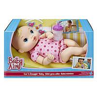 Кукла пупс Блондинка Hasbro Baby Alive Luv 'n Snuggle Baby Doll Blond 30 см оригинал A5841