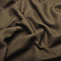 Ткань для штор Однотонная мешковина блэкаут Шоколадный