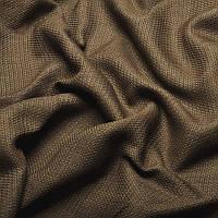 Ткань для штор Однотонная мешковина блэкаут Кофейный