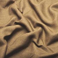 Ткань для штор Однотонная мешковина блэкаут Тёмно-бежевый