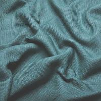 Ткань для штор Однотонная мешковина блэкаут Светло-бирюзовый