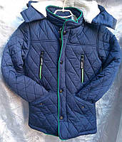 Куртка зимняя для мальчика на меху 7-12 л