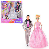 Кукла Defa, в свадебном платье, с Кеном, аксесс., в кор. 33*34*6см (24шт/2)