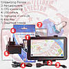 Мощный 3G GPS навигатор Pioner 2СИМ IPS с 1 GB + 8 GB Android 5.1 + Подарки : авто держатель зарядное пленка, фото 4