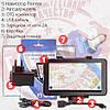GPS навигатор Pioneer 3G Wi-Fi 2 SIM IPS 1 GB RAM Android 5.1 Автокомплект : держатель + З/У + Пленка + Карты, фото 4