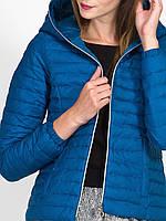 Женская короткая стеганная куртка с капюшоном, пуховик Италия 80% пух