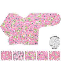 Теплая распашонка (Розовый, случайный рисунок)