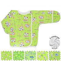 Теплая распашонка (Зеленый, случайный рисунок)