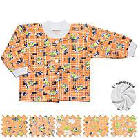 Теплая детская кофта (Оранжевый, случайный рисунок)