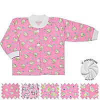 Теплая детская кофта (Розовый, случайный рисунок)