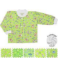 Теплая детская кофта (Зеленый, случайный рисунок)