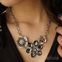 Ожерелье на шею женское с цветами