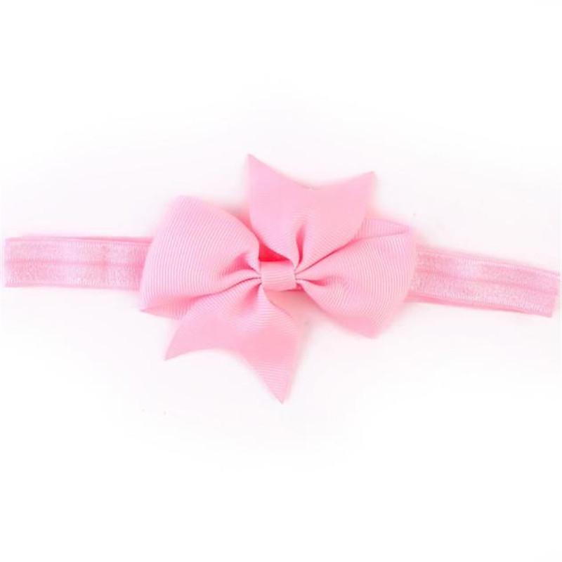 Повязка для маленькой девочки Бантик розовый